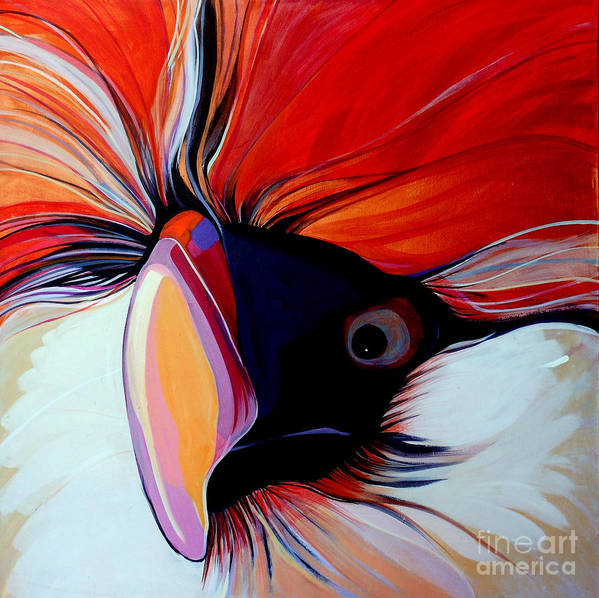 Bird Art Print featuring the painting Wild Thang by Marlene Burns
