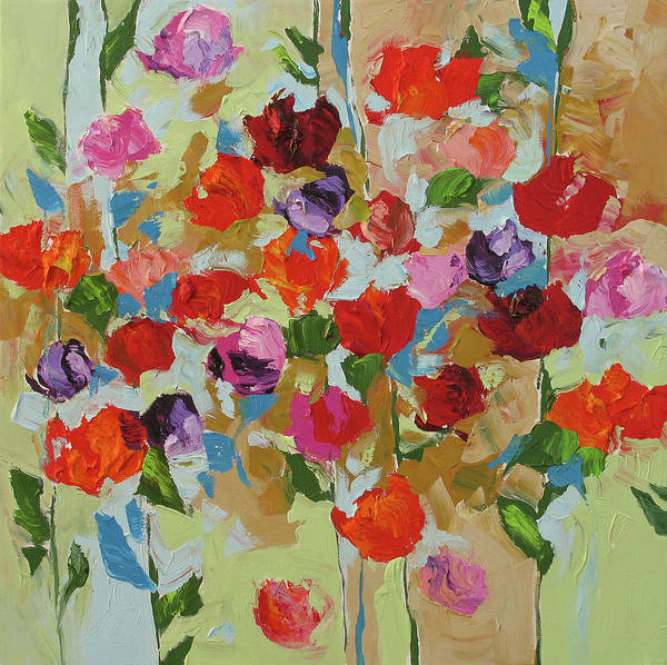 Art Art Print featuring the painting Hello Spring by Linda Monfort
