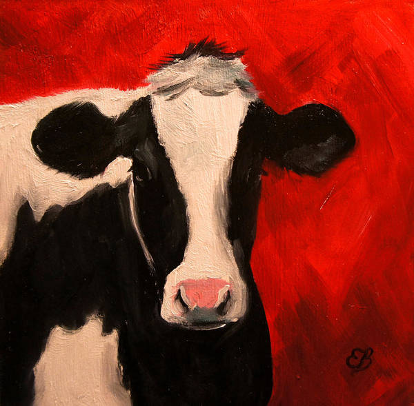 Cow Art Print featuring the painting Cow by Elizabeth Barrett
