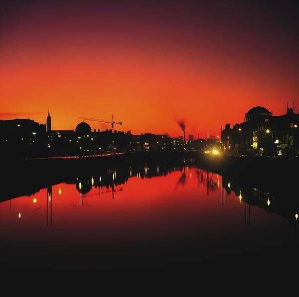 Atmosphere Art Print featuring the photograph River Liffey, Dublin, Co Dublin, Ireland by The Irish Image Collection