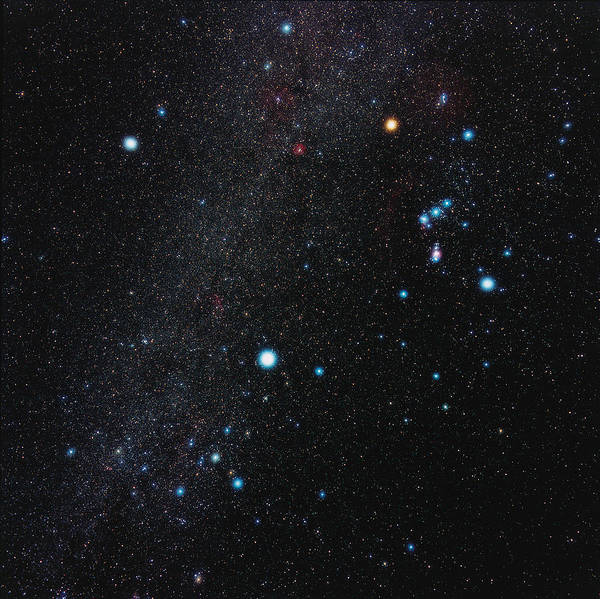 Winter Triangle Art Print featuring the photograph Orion Constellation by Eckhard Slawik