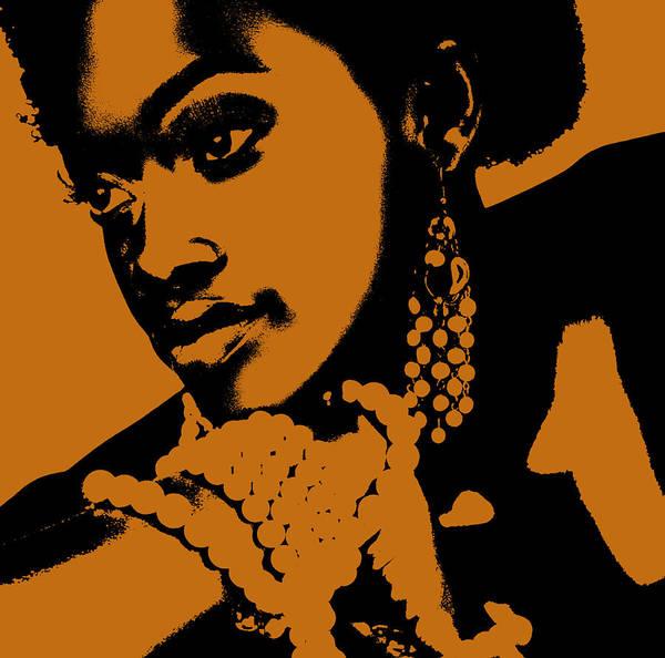 African Art Print featuring the photograph Aisha by Naxart Studio