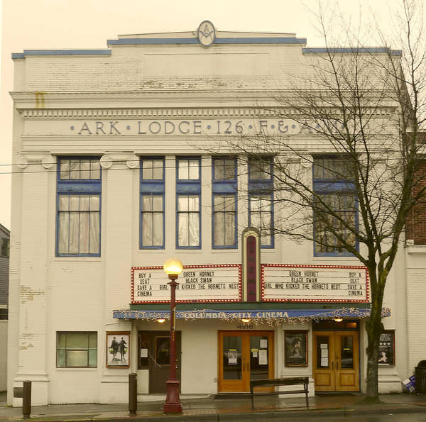 Old Cinema Art Print featuring the photograph Columbia City Cinema by Frank Winters