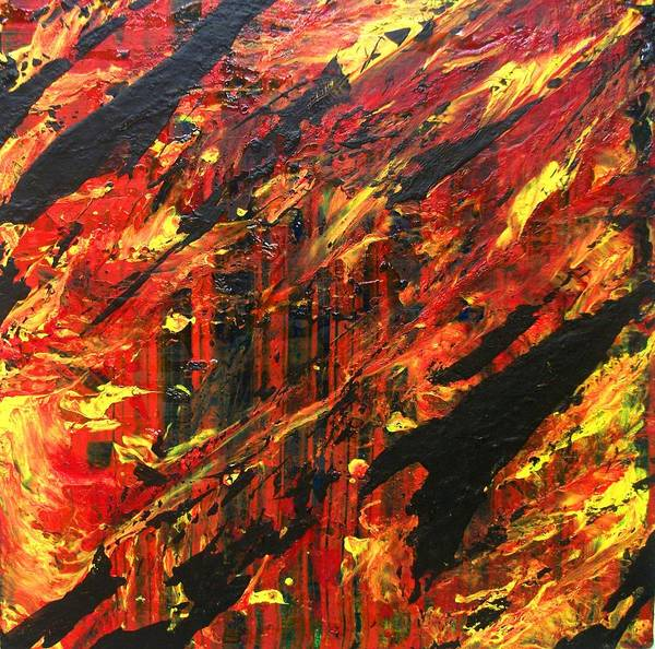 Fire In The Forest Art Print