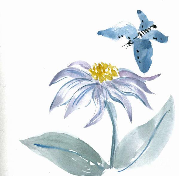 Body-spirit Art Print featuring the painting Flutter By by Ellen Miffitt