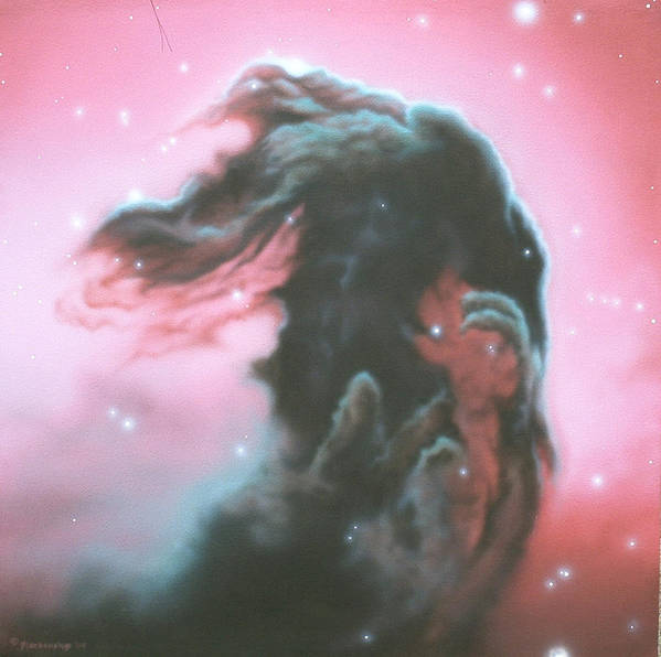 Hubble Images Art Print featuring the painting Horsehead Nebulea by Arley Blankenship