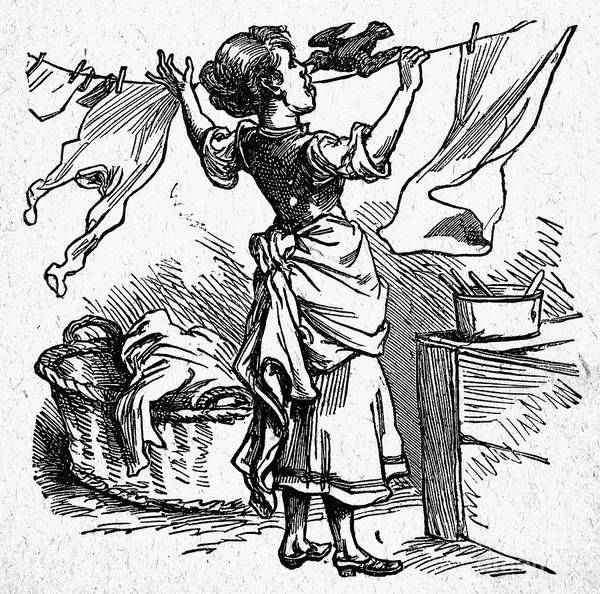 19th Century Art Print featuring the photograph Mother Goose: Maid by Granger