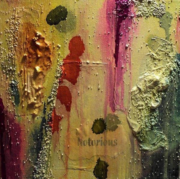 Mixed Media Art Print featuring the painting Notorious by Shelli Finch