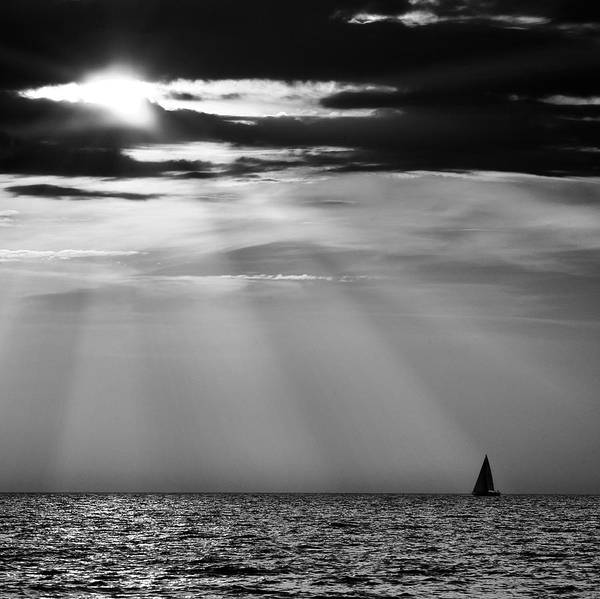 Seascape Art Print featuring the photograph Nowhere 5 by Guido Tramontano Guerritore
