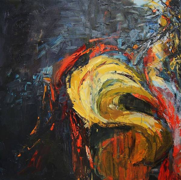 Expressive Art Print featuring the painting Passion by Masha Yakov