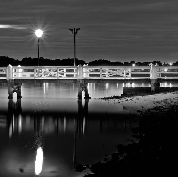 Bayview Park Art Print featuring the photograph Picketted Jetty by Mark Lucey