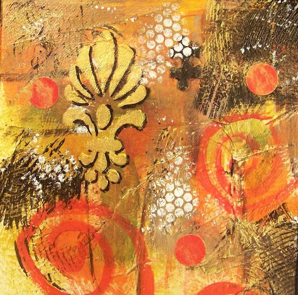 Abstract Art Print featuring the painting Resolution by Vickie Voelz