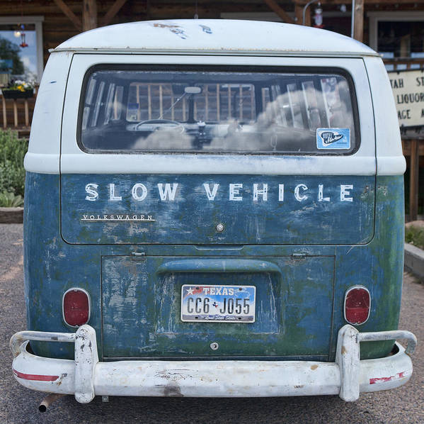 Vw Art Print featuring the photograph Slow Vehicle by Gregory Scott