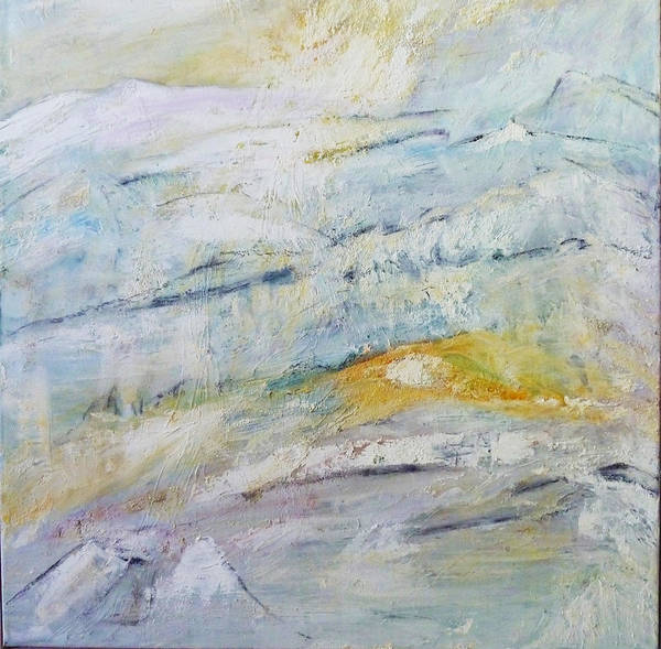 Abstract Art Print featuring the painting Snow Land by Ulla Heckel
