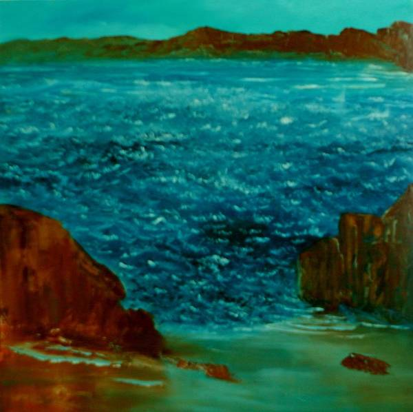 Seascape Art Print featuring the painting South Sea by David Snider