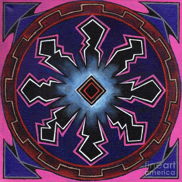 Mandala Art Print featuring the painting The Nemo Vibe by David Mel