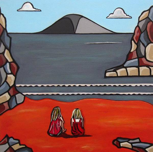 Beach Scenes Art Print featuring the painting What Was by Sandra Marie Adams