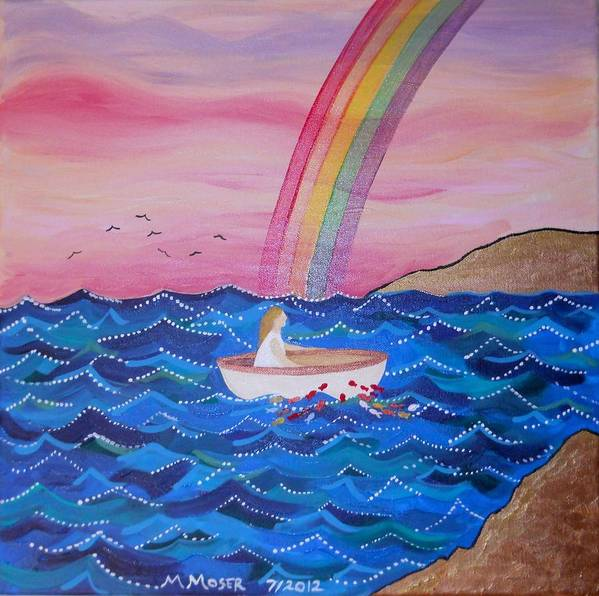Naive Art Print featuring the painting Wilka by Monica Moser
