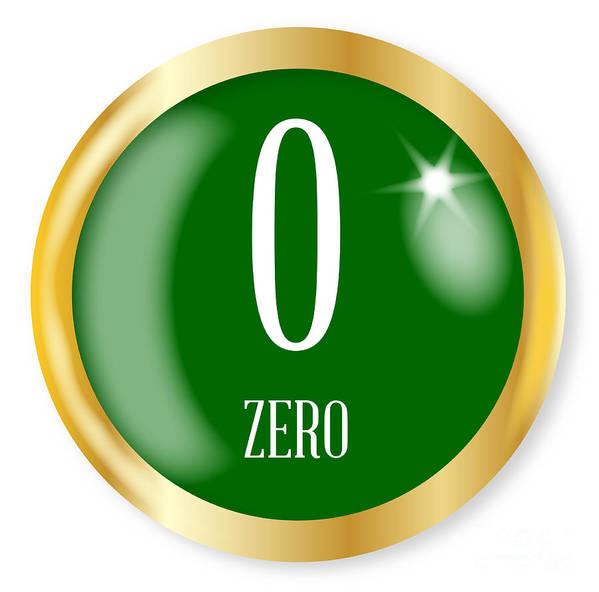 Zero Art Print featuring the digital art 0 For Zero by Bigalbaloo Stock