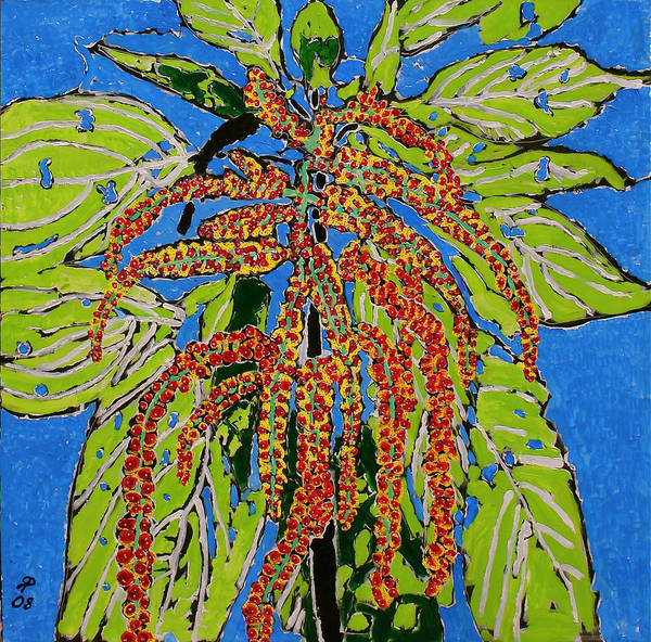 Landscape Art Print featuring the painting Amaranthus Sold by Ray Petersen