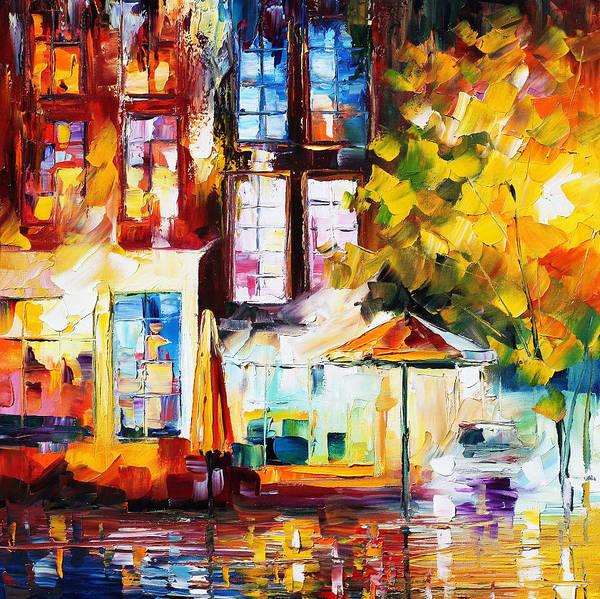Afremov Art Print featuring the painting Amsterdam by Leonid Afremov