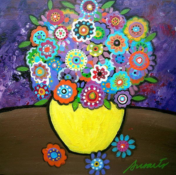 Pristine Art Print featuring the painting Blooms 6 by Pristine Cartera Turkus