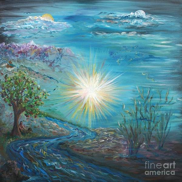 Creation Art Print featuring the painting Creation by Nadine Rippelmeyer