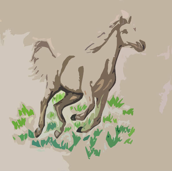 Palomino Art Print featuring the digital art Palomino by Crystal Suppes