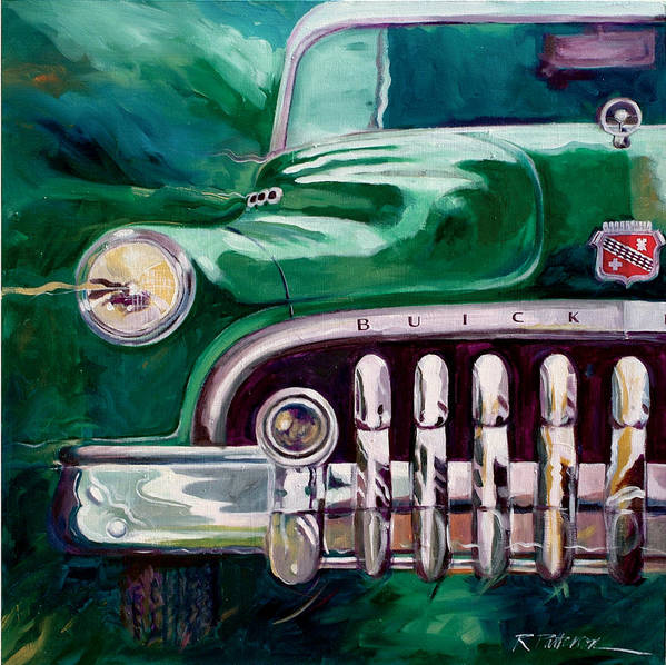 Transportation Art Print featuring the painting 1950 Buick Roadmaster by Ron Patterson