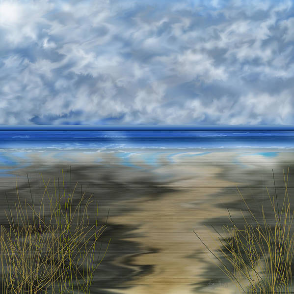 Anne Norskog Art Print featuring the painting The Road Less Travelled by Anne Norskog