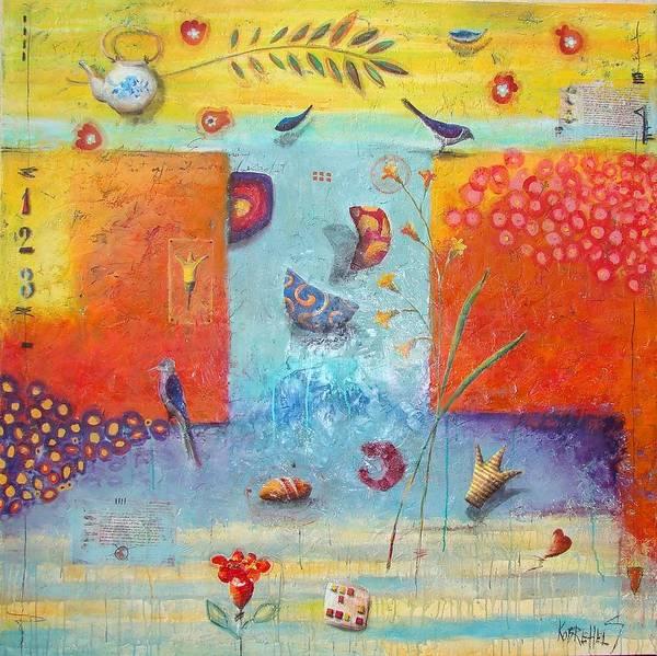 Fantasy Art Print featuring the painting 509 by Sonja Kobrehel
