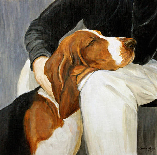 Basset Art Print featuring the painting A Friend Indeed by Charlotte Yealey