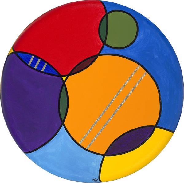 Circles Canvas Art Print featuring the painting Abstract Circles 2 by Patty Vicknair