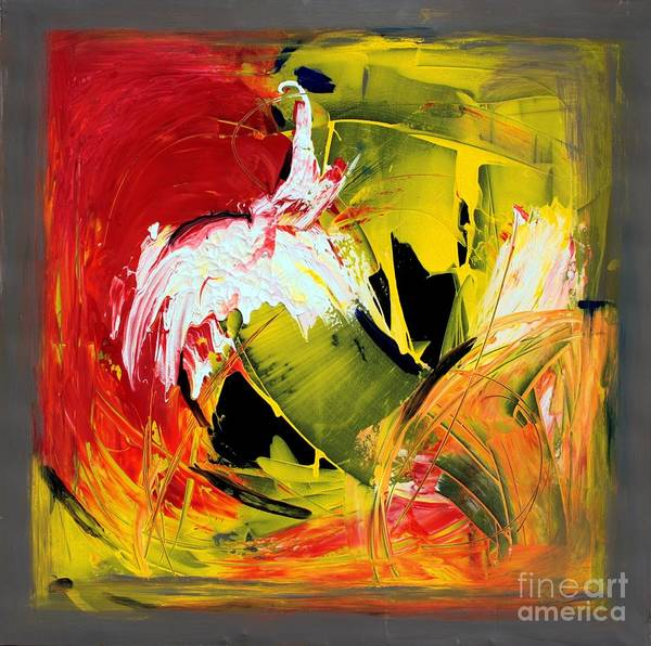 Abstarct Art Print featuring the painting Abstract Painting by Mario Zampedroni