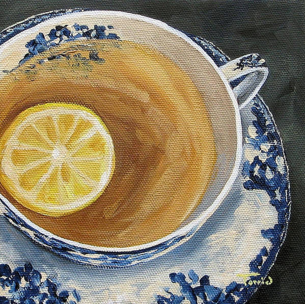 Teacup Art Print featuring the painting Afternoon Tea by Torrie Smiley