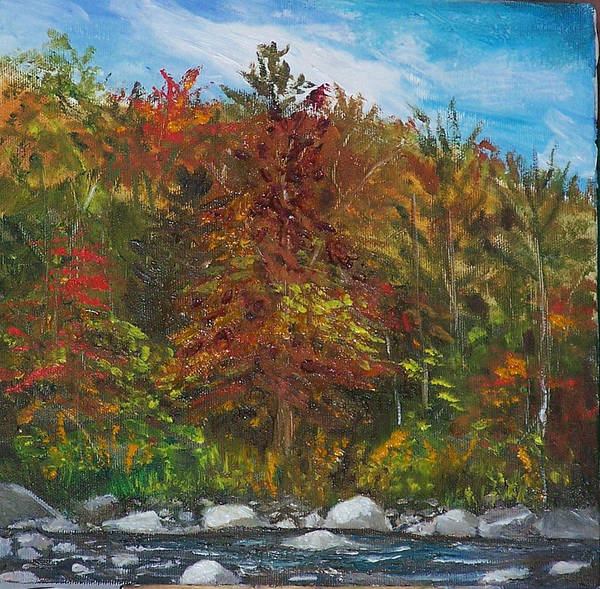 Autumn Art Print featuring the painting Autumn Colors by Pamela Wilson