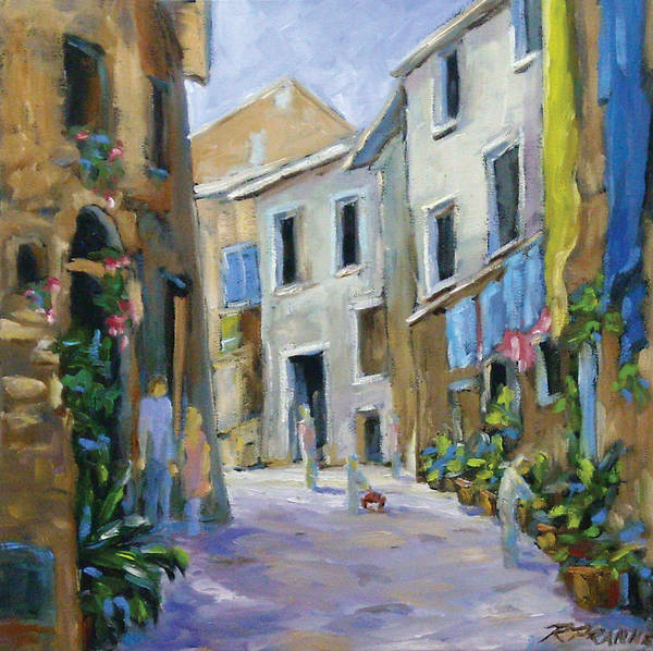 Urban Art Print featuring the painting Back Street by Richard T Pranke