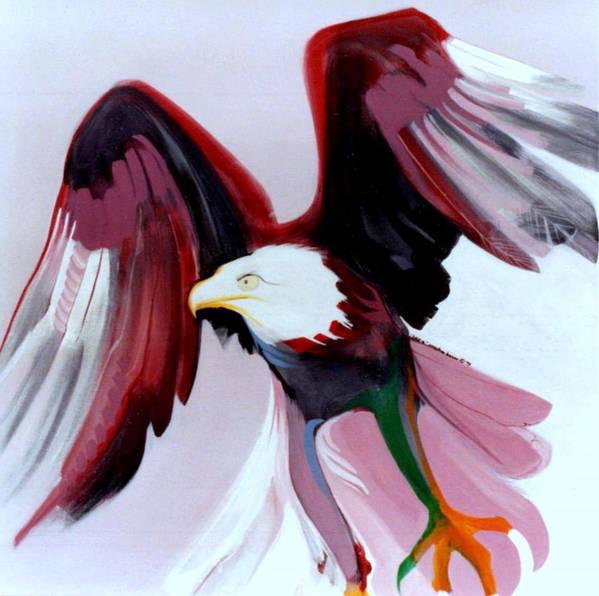 Birds Art Print featuring the painting Bald-e by Marlene Burns