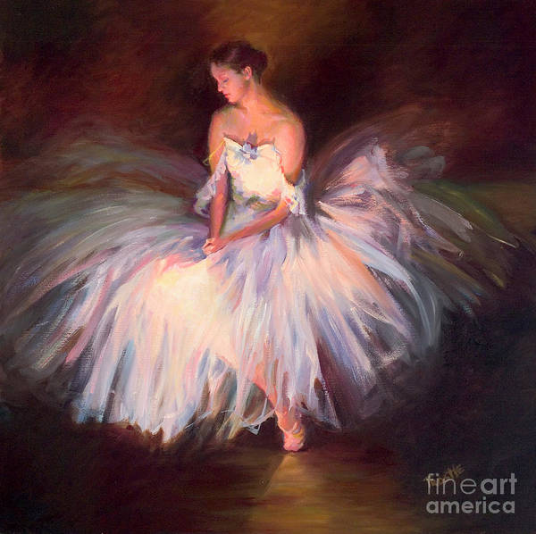 Best Selling Art Prints Art Print featuring the painting Ballerina Ballet Dancer Archival Print by Patti Trostle