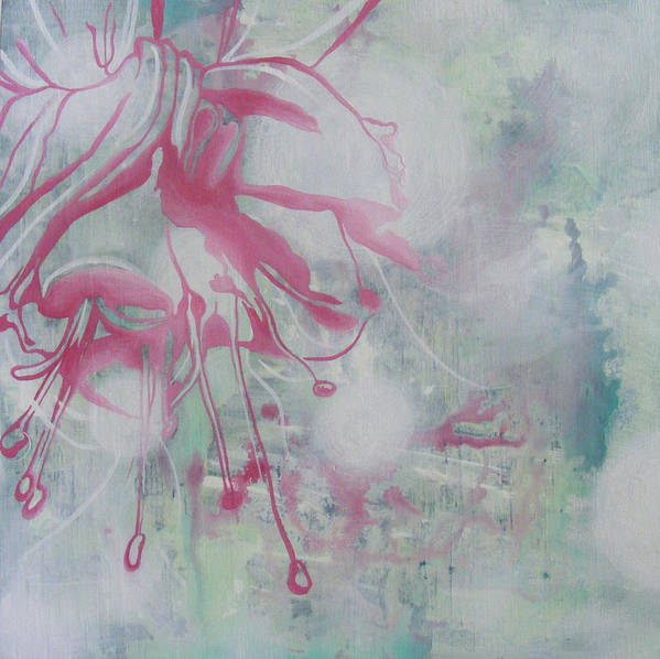 Bleeding Heart Art Print featuring the painting Bleeding Heart by Monica James