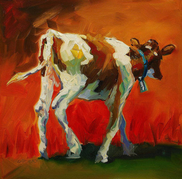 Painting Art Print featuring the painting Calf Baby by Diane Whitehead