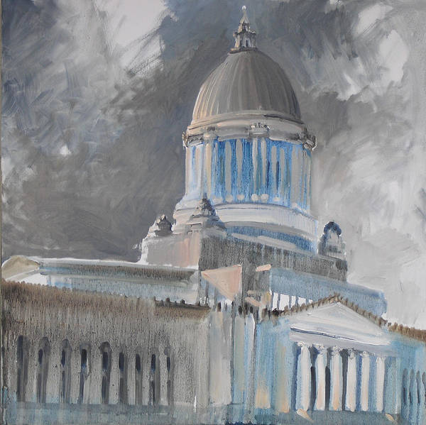 Capitol Art Print featuring the painting Capitol Turmoil by Gregg Caudell