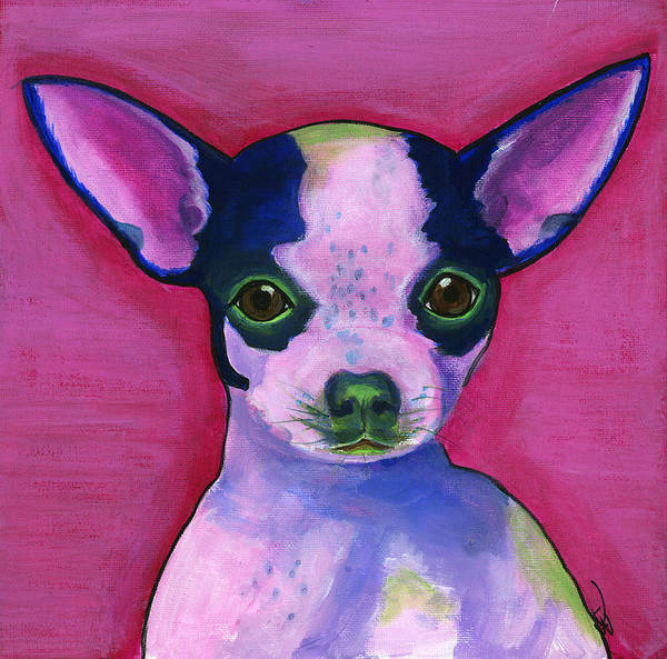 Cute Puppy Art Print featuring the painting Chico by Debbie Brown