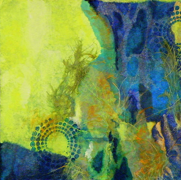 Mixed Media Art Print featuring the painting Circles 3 by Tara Milliken