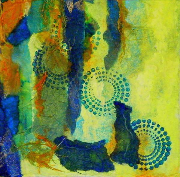 Mixed Media Art Print featuring the painting Circles 6 by Tara Milliken