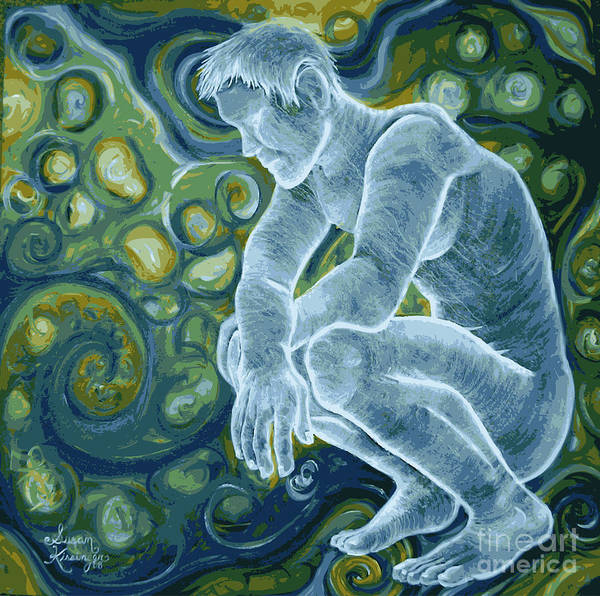 Figure Art Print featuring the painting Contemplate by Susan Clausen