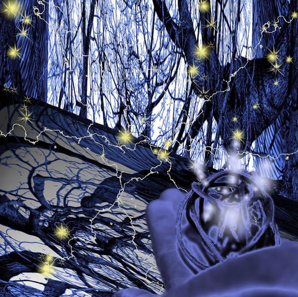 Control Art Print featuring the digital art Control by Cathy Beharriell