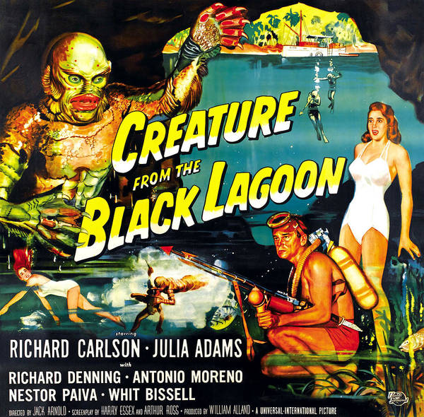 1950s Movies Art Print featuring the photograph Creature From The Black Lagoon by Everett