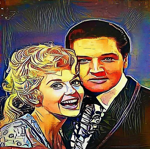 Donna Douglas And Elvis Presley - My Www Vikinek-art.com Art Print ...