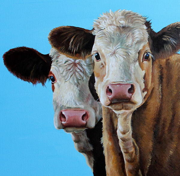 Simmental Art Print featuring the painting Double Dutch by Laura Carey
